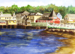 Dock Square bridge in Kennebunkport Maine