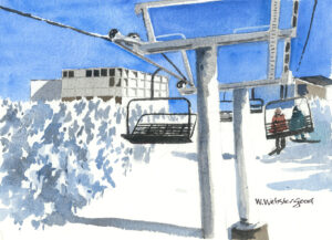 Timberline lift at Sugarloaf Mountain in Maine