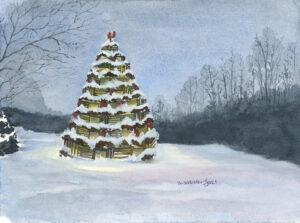 Lobster trap Christmas Tree Cape Porpoise Maine