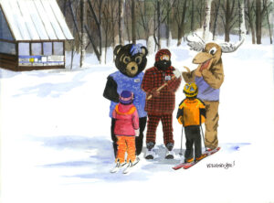 watercolor print by Wendy Webster Good of the Sugarloaf Mountain mascots