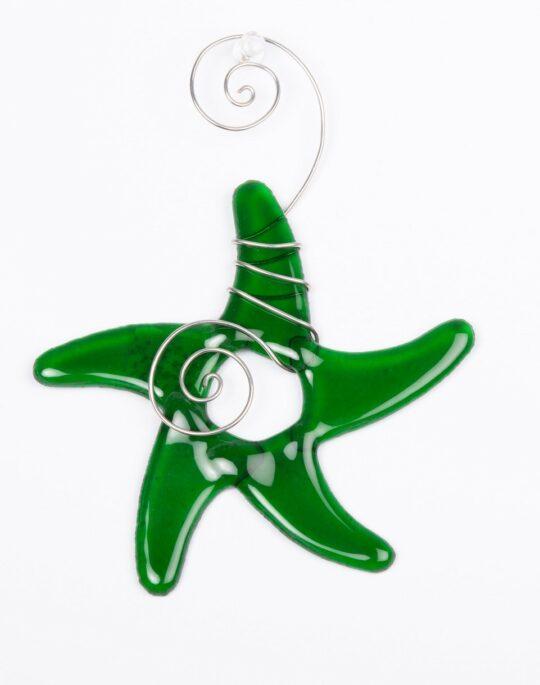 Green Glass Star Fish